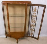 1950's Walnut China Display Cabinet - SOLD